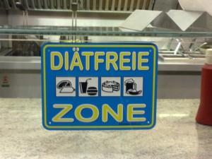 """Schild """"diätfreie Zone"""""""